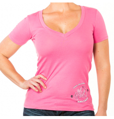 SCRIPTED WINGS - VNECK PINK