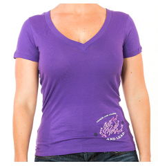 SCRIPTED WINGS-VNECK PURPLE