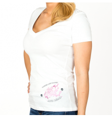 SCRIPTED WINGS-VNECK WHITE